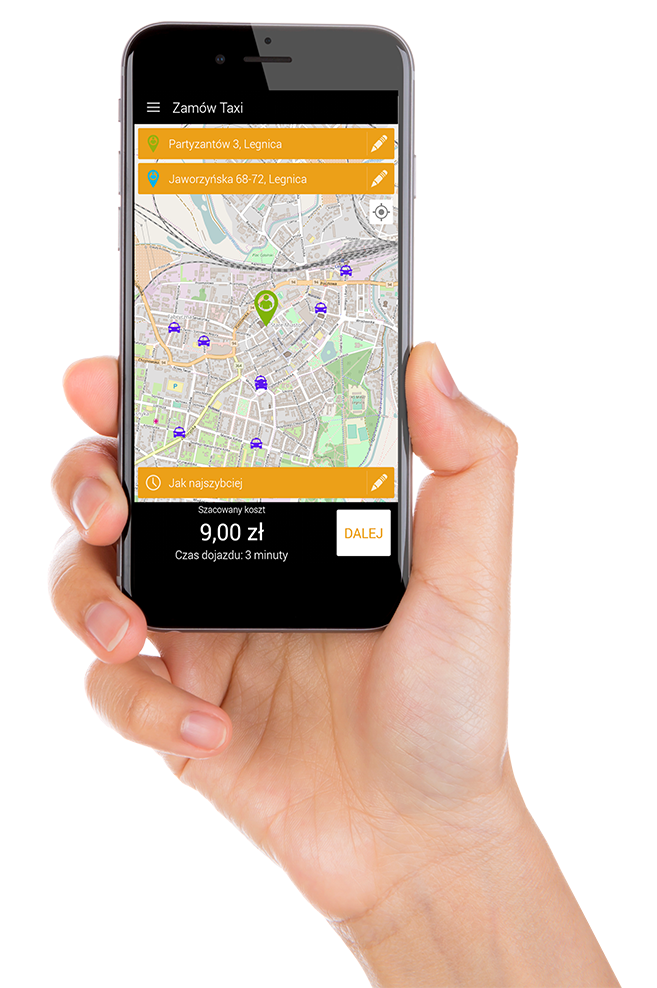 aplikacja radio taxi legnica
